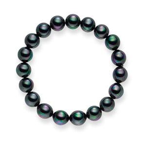 Perlový náramok Nova Pearls Copenhagen Aurelie Dark Grey, 21 cm