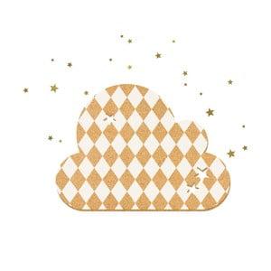 Dekoratívne samolepiace nástenka Dekornik French Cloud White Stars