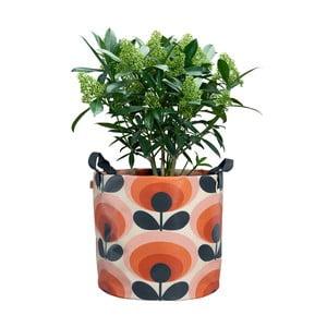 Oranžový textilný kvetináč Orla Kiely Gerbera, Ø30 cm