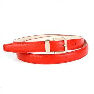 Dámsky kožený opasok 44T60 Red, 80 cm