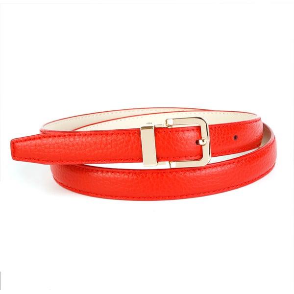 Dámsky kožený opasok 44T60 Red, 100 cm
