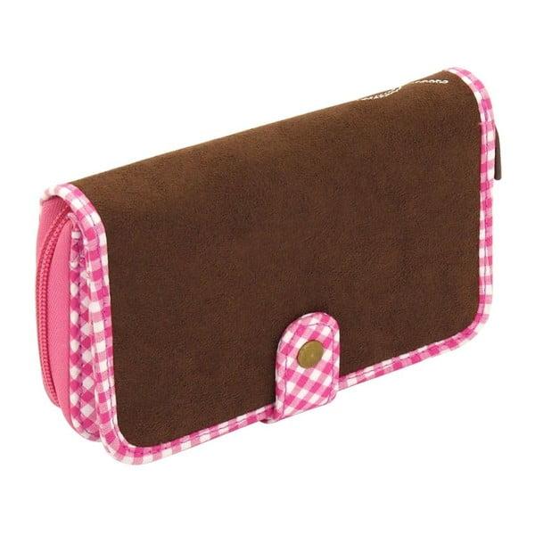 Dámska peňaženka Bavaria Fitted Brown/Pink
