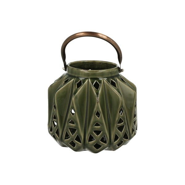 Keramický lampáš Green Light, 16 cm