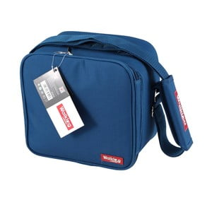 Modrá obedová taška Bergner Cube