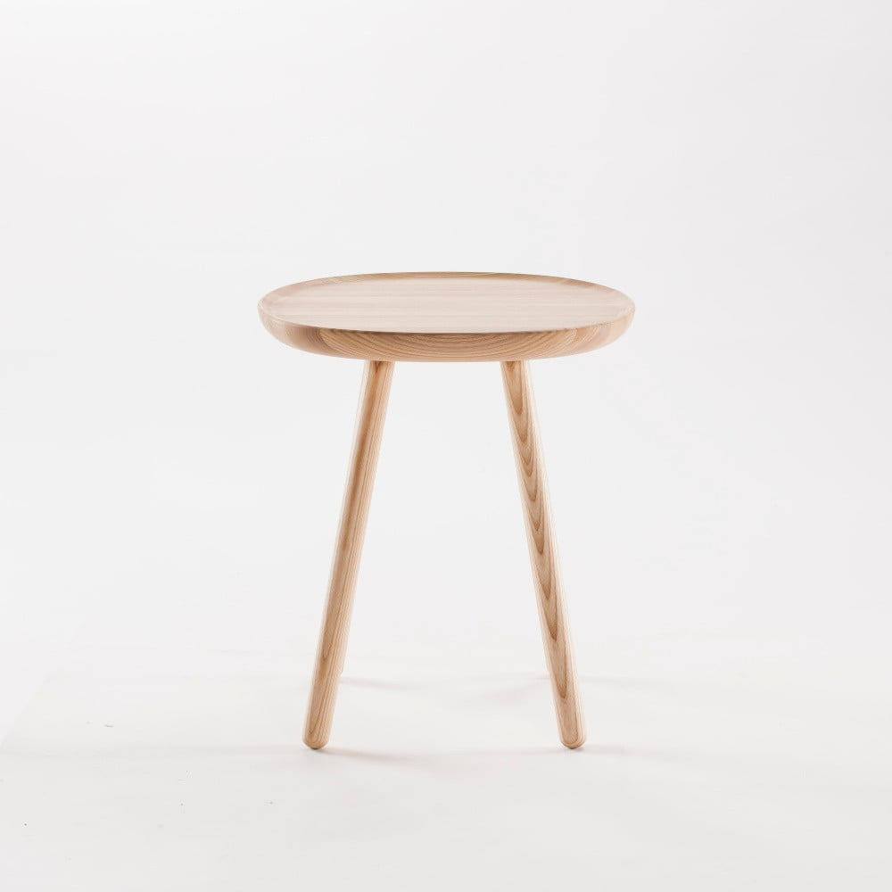 Prírodný odkladací stolík z masívu EMKO Naïve Small, ø 45 cm