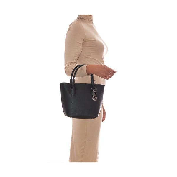Kožená kabelka Carlota, čierna