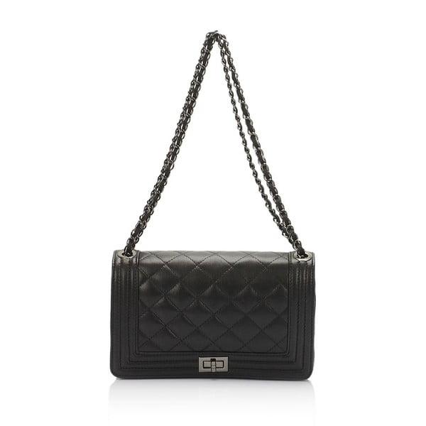 Čierna kožená kabelka Lisa Minardi Silviana