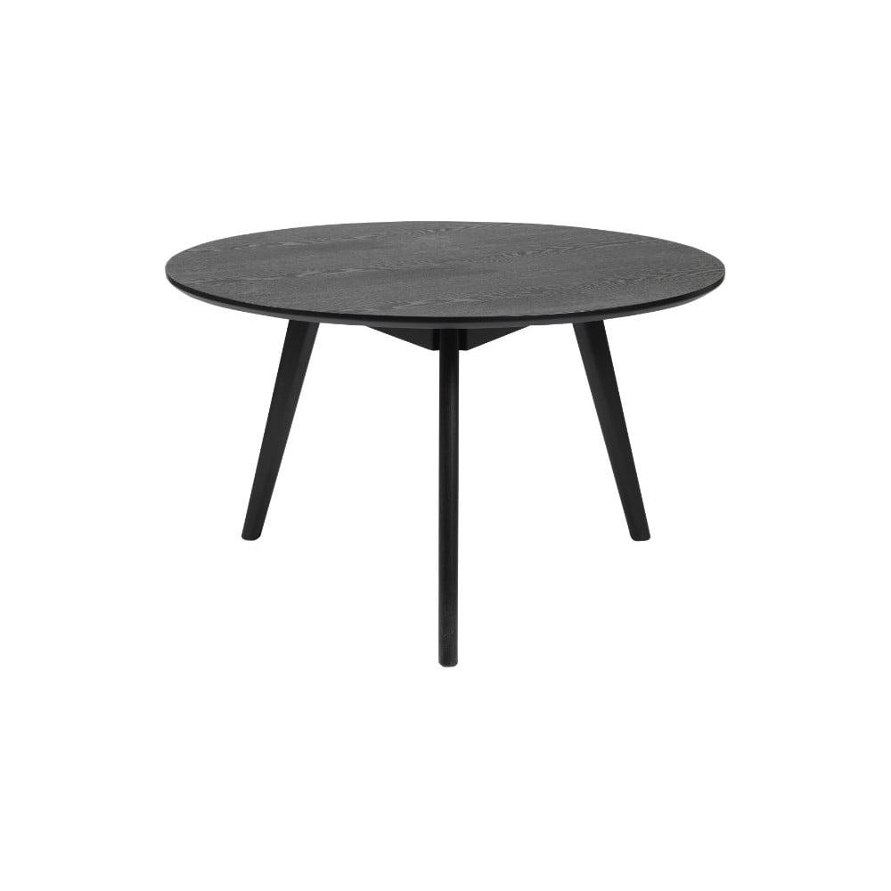 Čierny konferenčný stolík z jaseňového dreva Folke Yumi, ∅ 9 cm