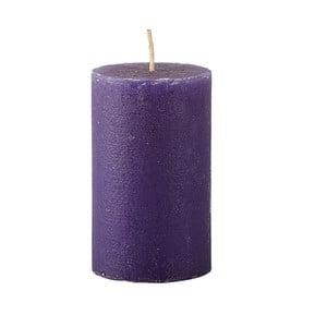 Fialová sviečka KJ Collection Konic, ⌀6x10cm