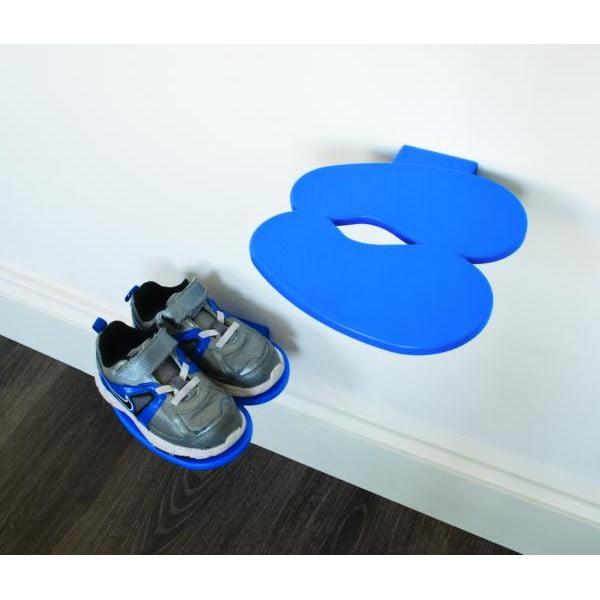 Polica na detské topánky J-ME Footprint, modrá