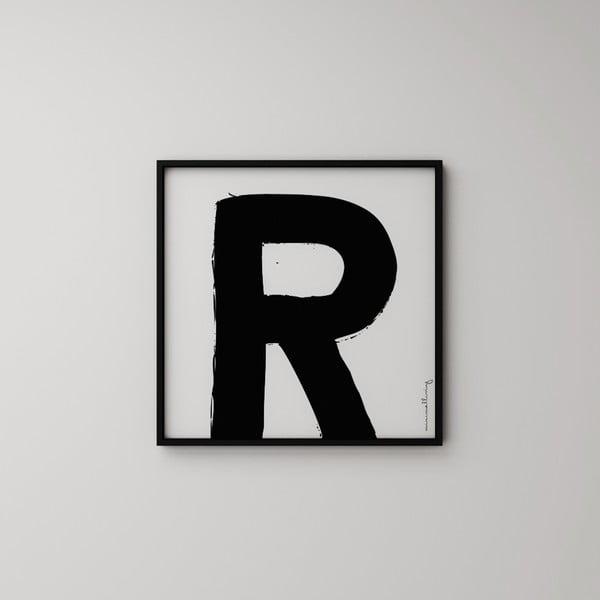 Plagát Litera R, 50x50 cm
