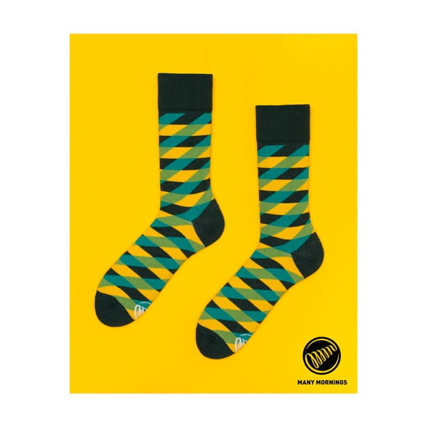 Ponožky Many Mornings Illusion Green, veľ.43/46