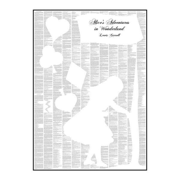 Knižný plagát Alica v krajine zázrakov, 50x70 cm