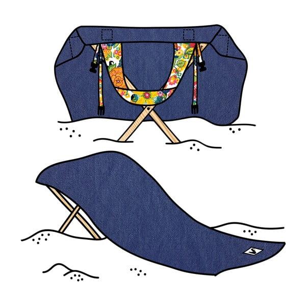 Skladacie plážové lehátko a osuška v jednom Sun Seat Atlantic Jungle