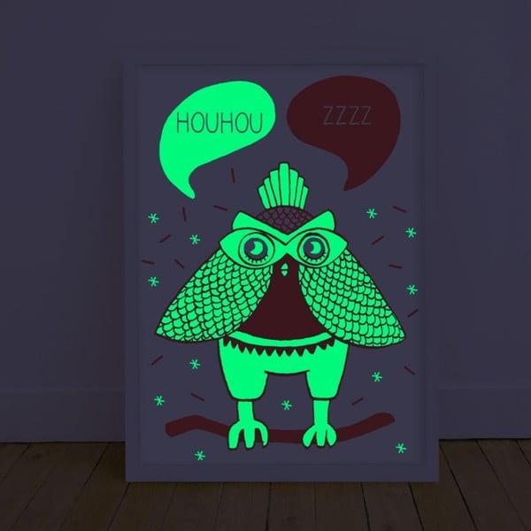 Plagát svietiaci v tme OMY Loula, 30 x 40 cm