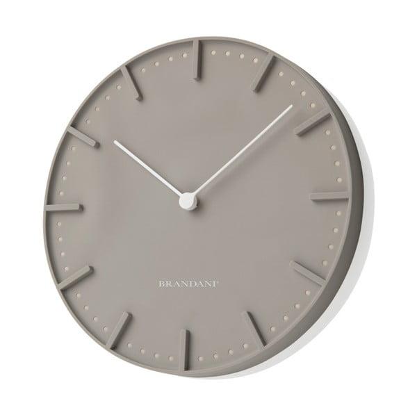 Sivé nástenné hodiny Mister Tacche