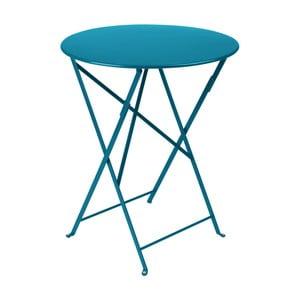 Modrý záhradný stolík Fermob Bistro, Ø60 cm