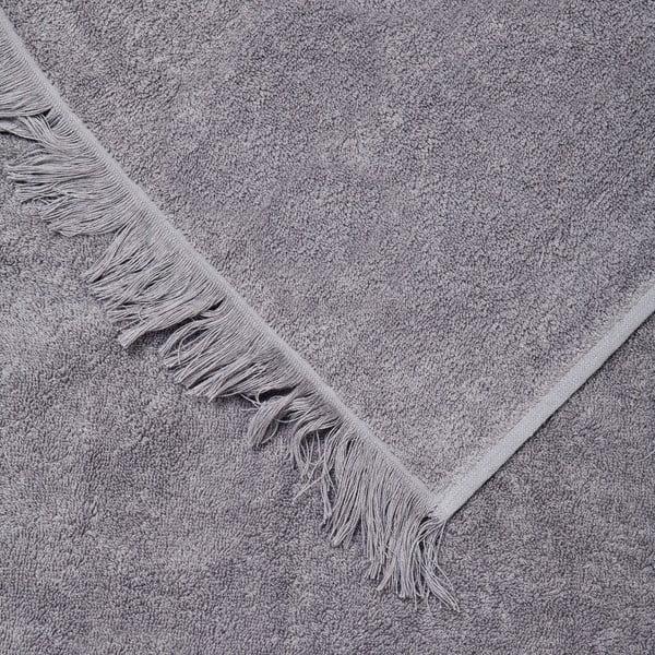 Sada 2 sivých bavlnených uterákov Casa Di Bassi Face, 50x90 cm