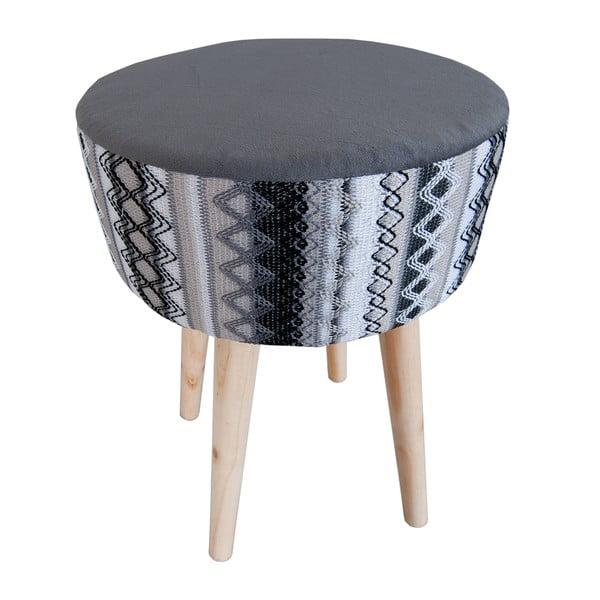 Čierno-biela stolička Clayre & Eef Vagon