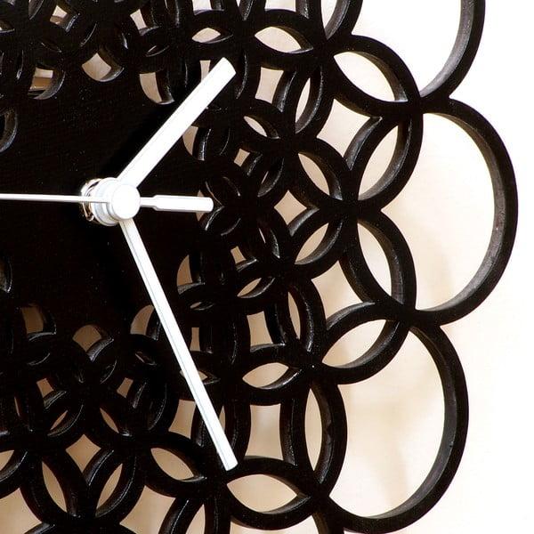 Drevené hodiny Rings, 29 cm