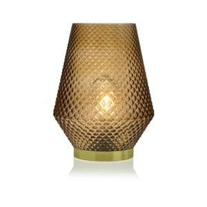 Žltá sklenená olejová LED lampa Versa Relax, ⌀21 cm