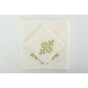Sada 2 uterákov Isle Cream Gold, 30x50 cm/50x90 cm
