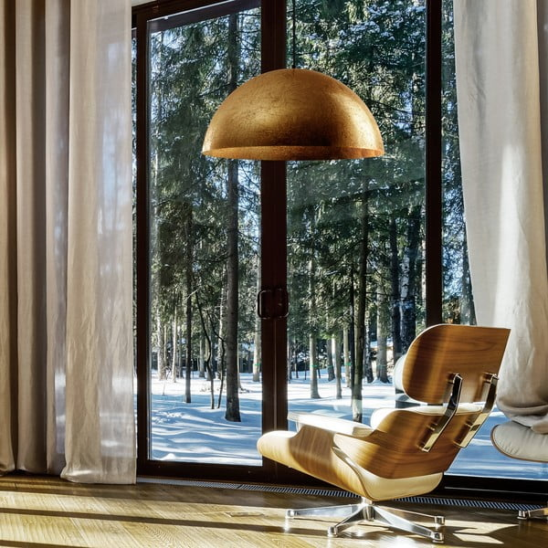 Stropná lampa Cuatro, zlatá/čierna veľkosť XL