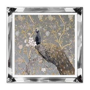 Nástenný obraz JohnsonStyle The Golden Peacock, 51 x 51 cm