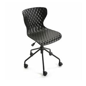 Čierna kancelárska stolička Versa
