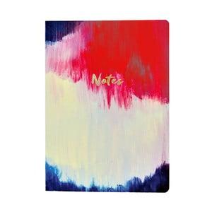 Zápisník A5 Portico Designs Watercolour Abstract Flexi, 160stránok