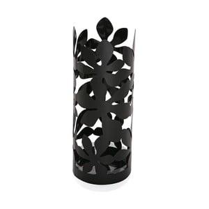 Čierny kovový stojan na dáždniky Versa Flores, výška 49 cm