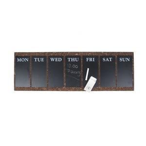 Nástenná tabuľa s týždenným plánovačom Present Time Cork