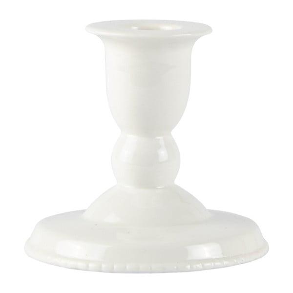 Keramický biely svietnik Villa Collection Runna, 9 cm