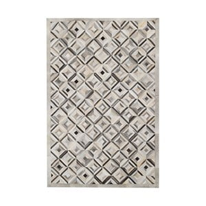 Koberec z pravej kože Sao Paulo Diamond Grey, 200x300 cm