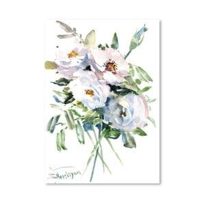 Plagát White Roses od Suren Nersisyan