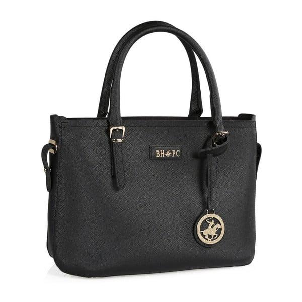 Čierna kabelka z eko kože Beverly Hills Polo Club Dina