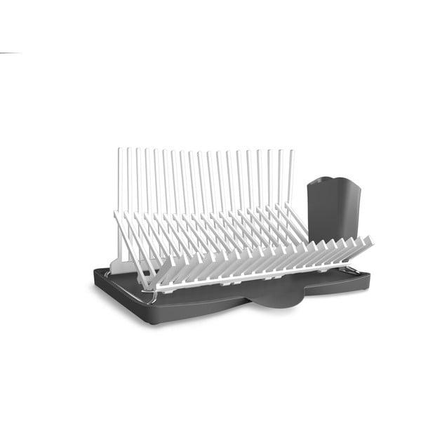 Bielo-sivý odkvapkávač Black + Blum Dish Rack