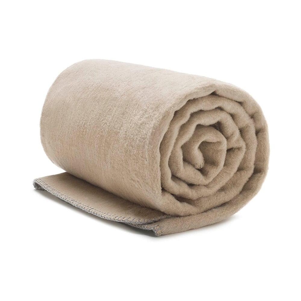 Béžová deka Mumla, 150 x 200 cm