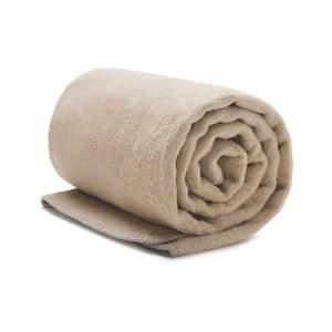 Béžová bavlnená deka Mumla, 150×200 cm