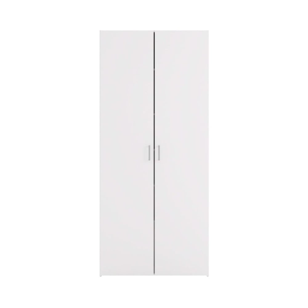Biela dvojdverová šatníková skriňa Evegreen Houso Home, výška 175,4 cm