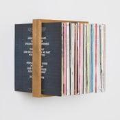 Polica na vinylové platne z dubového dreva das kleine b Platte, výška 35cm