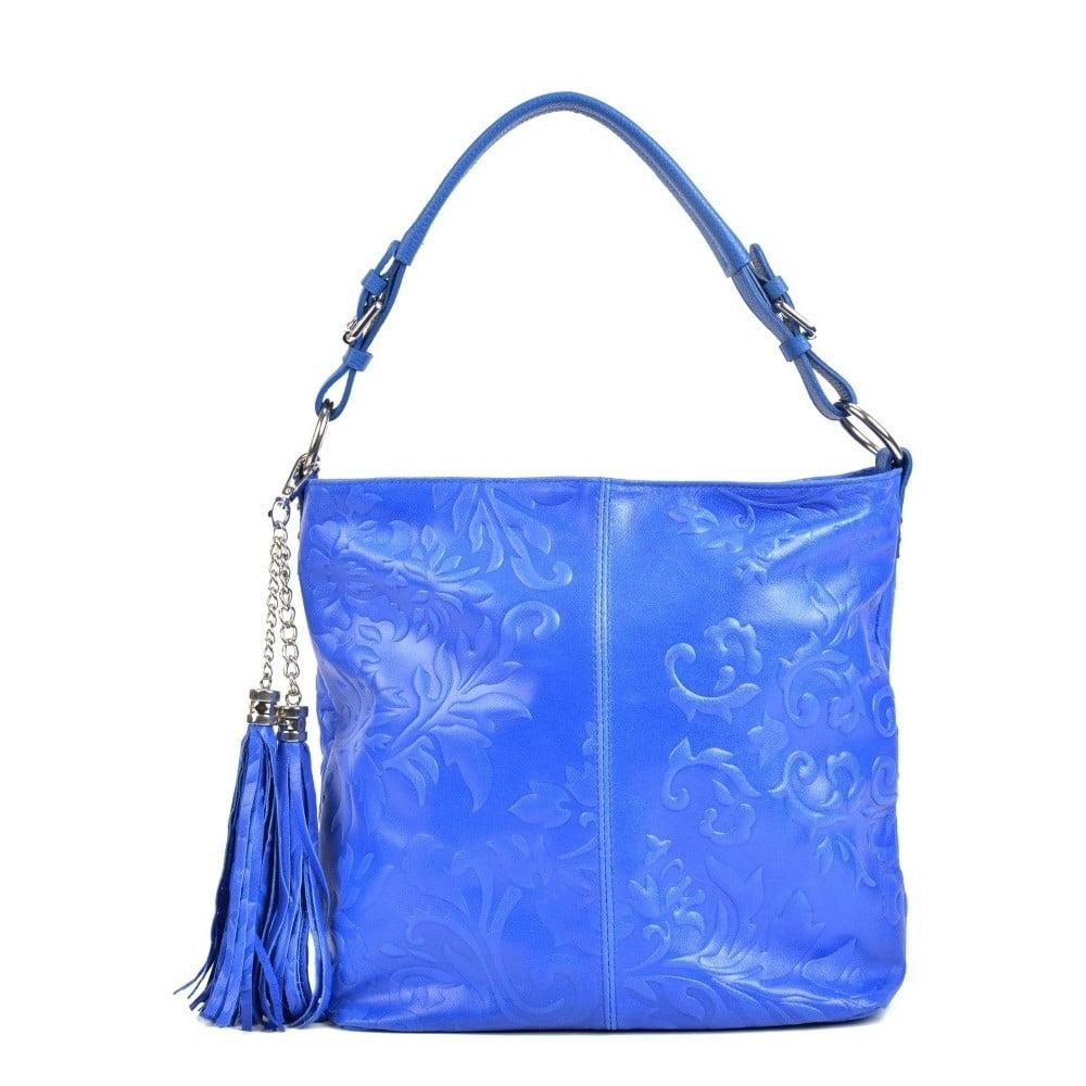 Modrá kožená kabelka Isabella Rhea Larto