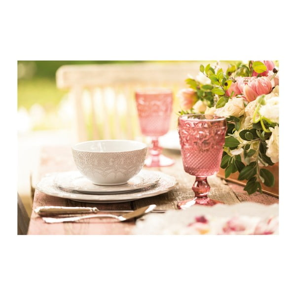 Sada 6 pohárov Katie Alice Embossed, ružová