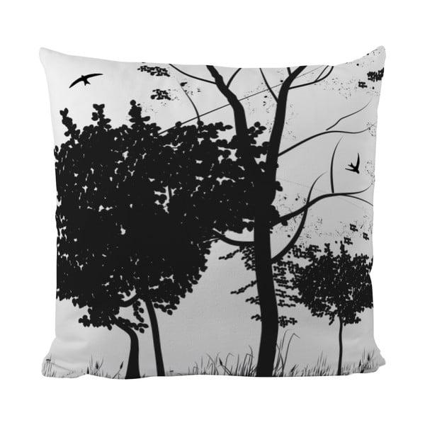 Vankúšik Black Shake Trees Under The Tree, 50x50 cm