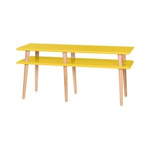 Žltý konferenčný stolík Ragaba Mugo,dĺžka119 cm