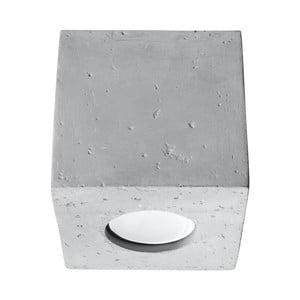 Sivé betónové stropné svietidlo Nice Lamps Geo