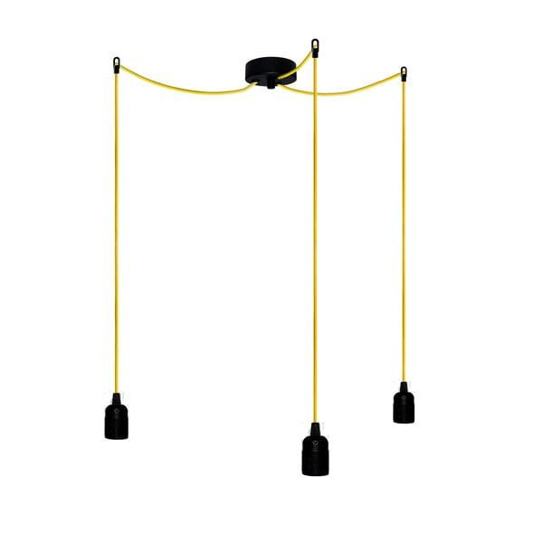 Tri závesné káble Uno, žlutá/čierna