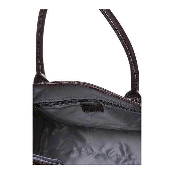 Kožená kabelka do ruky Canguru Pendant, hnedá