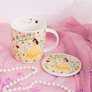 Set keramického hrnčeka a podnosu Disney Belle, 400 ml