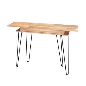 Konzolový stolík s úložným priestorom v dekore dubového dreva 13Casa Elektra